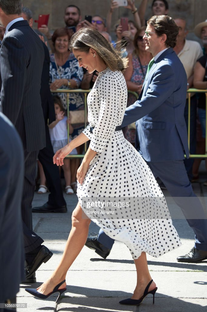 Spanish Royals Attend An Anniversary Event At Salamanca University : News Photo