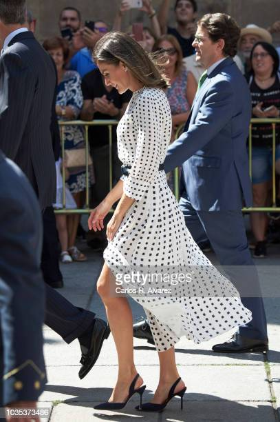 Queen Letizia of Spain attends the 30th anniversary of the ÔMagna Charta UniversitatumÕ at the Salamanca University on September 18 in Salamanca Spain