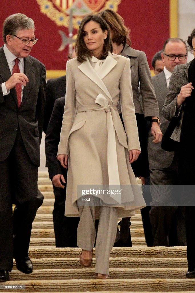 Queen Letizia Of Spain Attends The 40th Anniversary Of The Public Service Of Sate Employment : News Photo