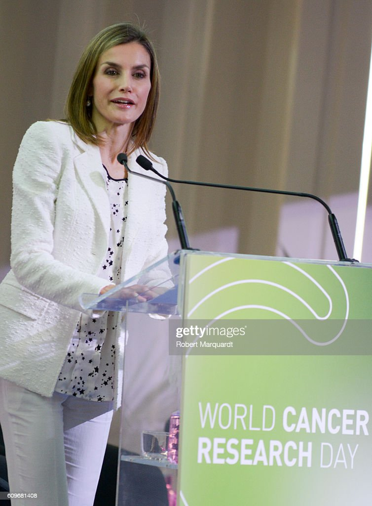 Queen Letizia of Spain Presides AECC Event On Research On Cancer International Day : News Photo