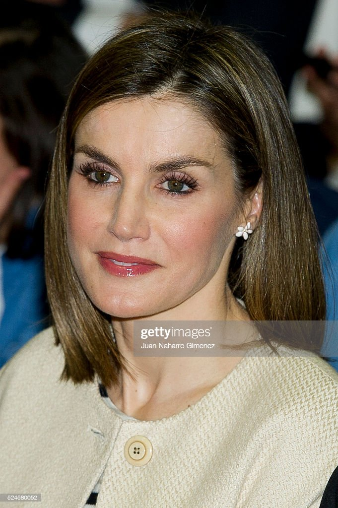 Queen Letizia of Spain Visits Gipsy Secretariat Foundation : News Photo