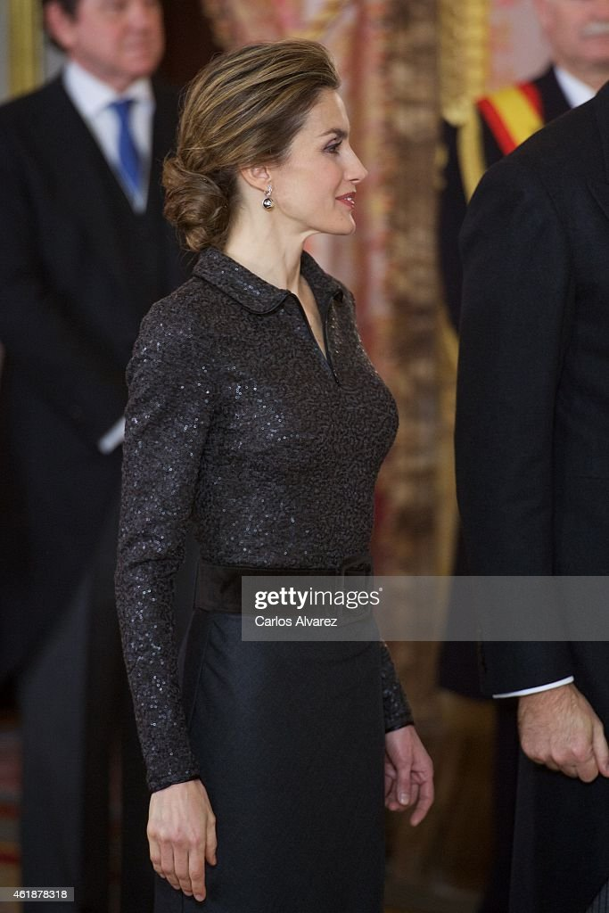 King Felipe VI of Spain Receive New Ambassadors in Madrid : News Photo