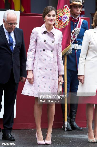 Queen Letizia of Spain attends the Armed Forces Day on May 26 2018 in Logrono Spain