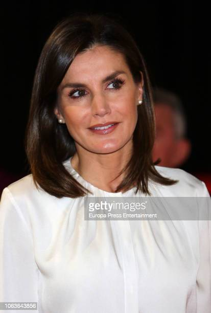Queen Letizia of Spain attends the centenary of Nursing School and San Jose and Santa Adela Red Cross hospital on November 20 2018 in Madrid Spain