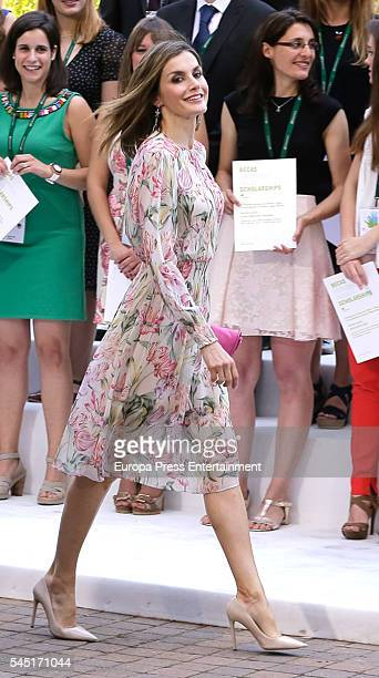 Queen Letizia of Spain attends the ceremony held to present Iberdrola 2016 Scholarships on July 5 2016 in Madrid Spain