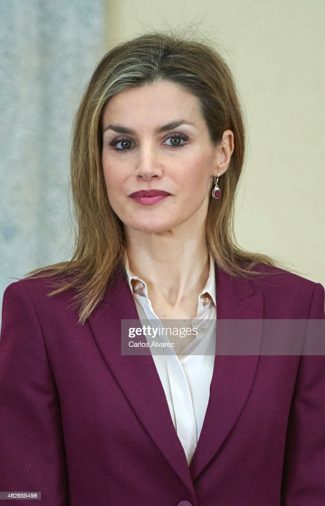 Spanish Royals Attend the Delivery of the Fine Arts Golden Medals : News Photo