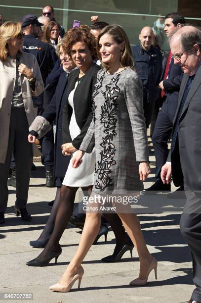 Queen Letizia of Spain attends the closing of the 'Women and Disability We Crossed Borders' International Congress at the Lienzo Norte Exhibition and...