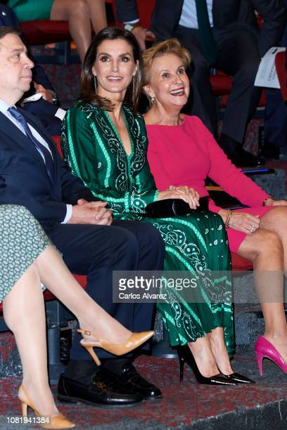 MADRID SPAIN DECEMBER 13 Queen Letizia of Spain attends the closure of AFAMMER International Congress at the Marriot Auditorium Hotel on December 13...