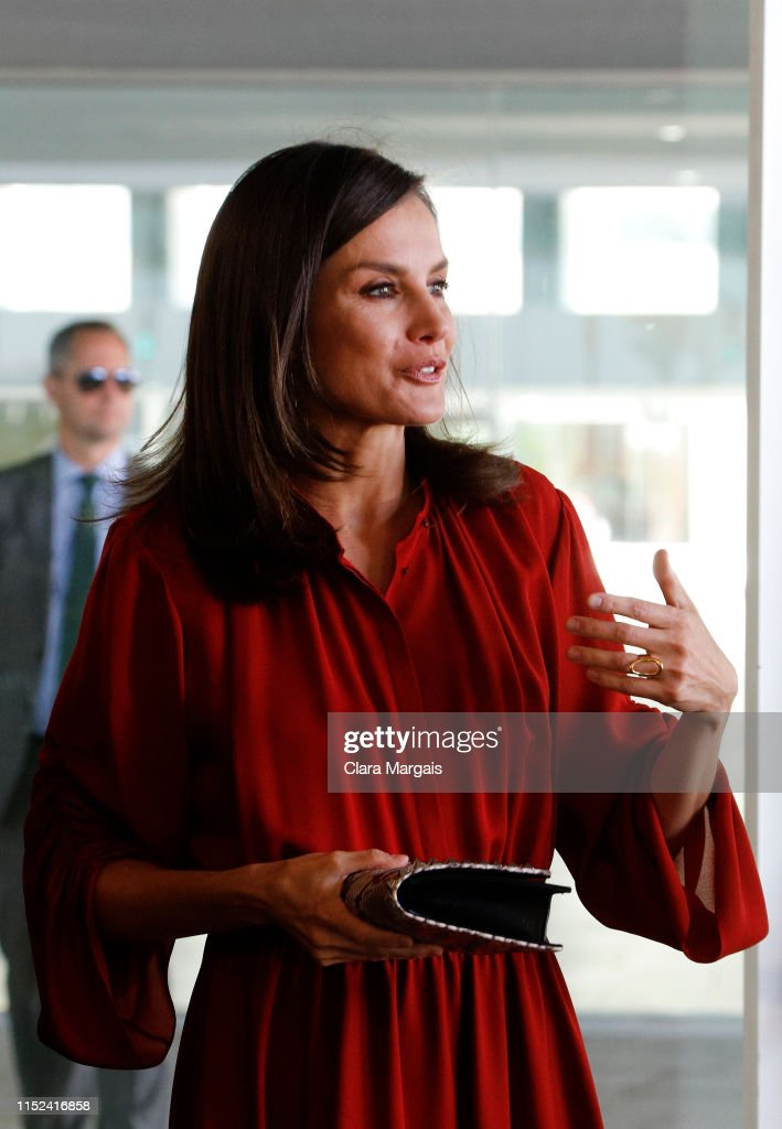 Queen Letizia Of Spain Attends The Closure Of The 'International Conference On Safe Schools' 2019 : News Photo