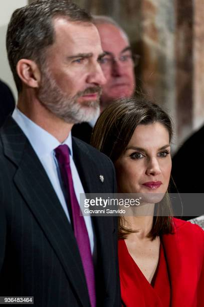Queen Letizia of Spain attends The Commemoration of Capitulations of Valladolid at Monasterio de Nuestra Se–ora de Prado on March 22 2018 in...
