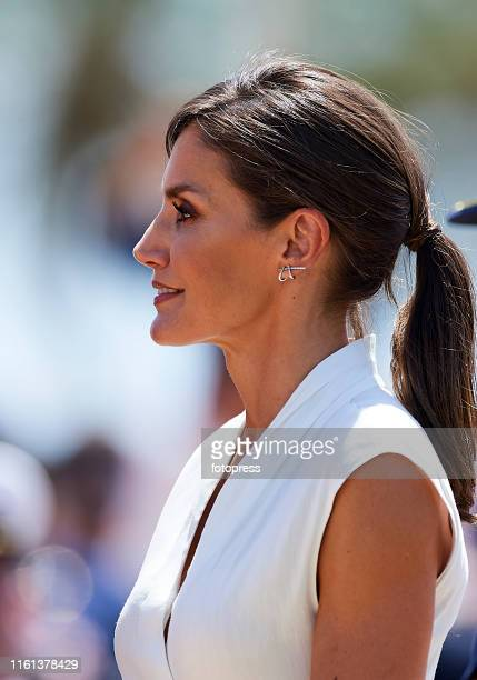 Queen Letizia of Spain attends the Delivery of Real Employment Dispatches at the General Military Academy on July 11 2019 in San Javier Spain