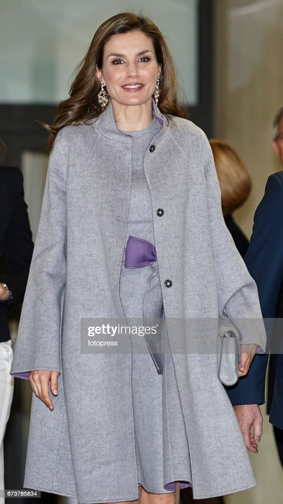 Queen Letizia Of Spain Attends Educative Congress Of Rare Diseases in Valencia : News Photo
