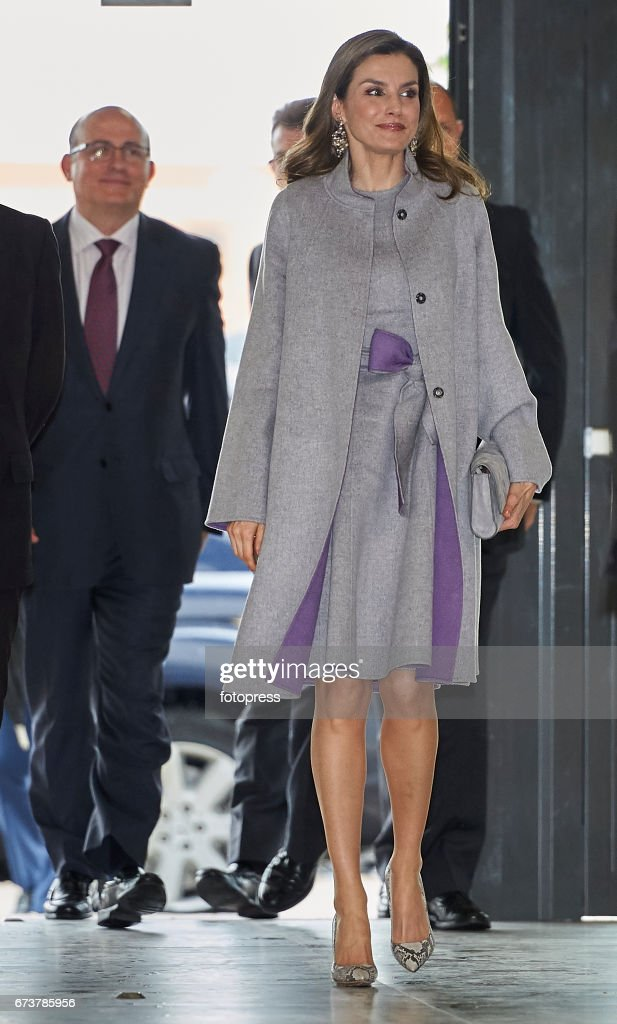 Queen Letizia Of Spain Attends Educative Congress Of Rare Diseases in Valencia : News Photo