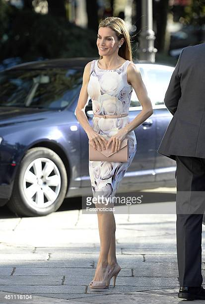 Queen Letizia of Spain attends the 'El Greco y La Pintura Moderna' exhibition opening at El Prado Museum on June 23 2014 in Madrid Spain