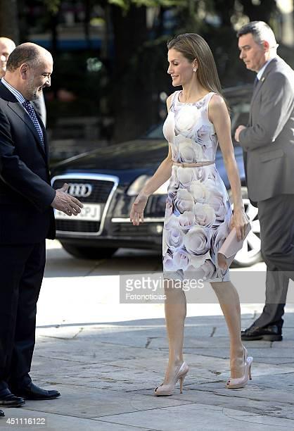 Queen Letizia of Spain attends the 'El Greco y La Pintura Moderna' exhibition opening at El Prado Museum on June 23 2014 in Madrid Spain