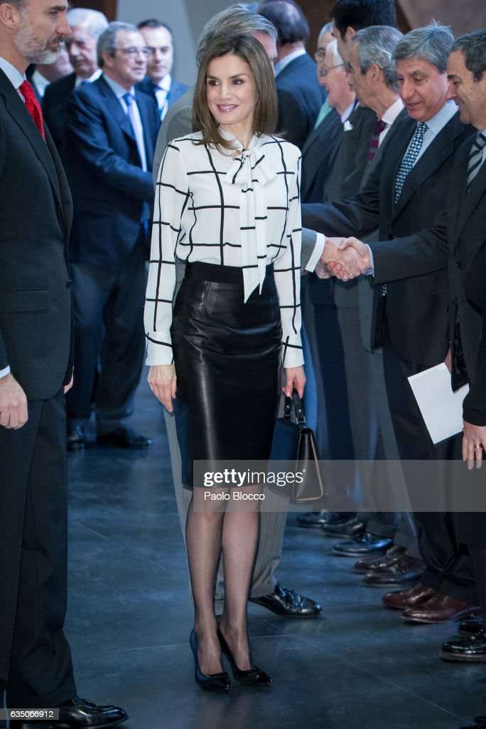 Spanish Royals Arrive to Telefonica Foundation : News Photo