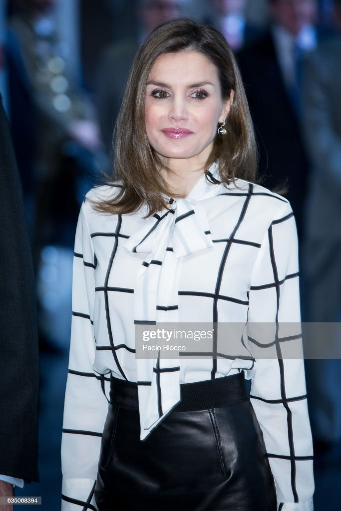 Queen Letizia of Spain attends the 'El Valor Economico del Espanol' conference at Telefonica Foundation on February 13, 2017 in Madrid, Spain.