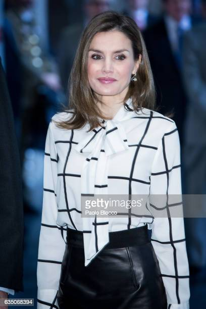 Queen Letizia of Spain attends the 'El Valor Economico del Espanol' conference at Telefonica Foundation on February 13 2017 in Madrid Spain
