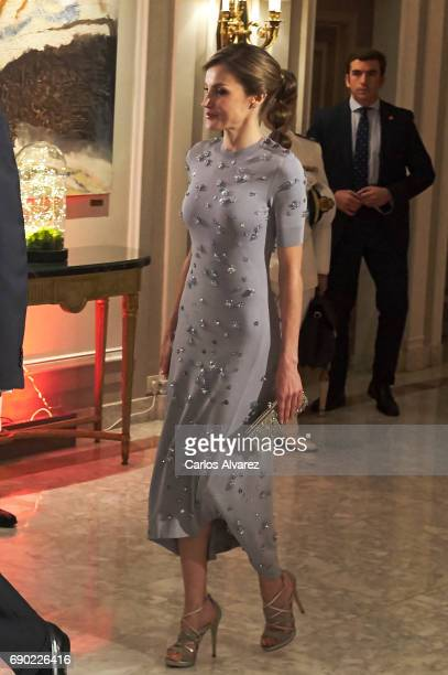 Queen Letizia of Spain attends the Europa Press news agency 60th Anniversary at the Villa Magna hotel on May 30 2017 in Madrid Spain