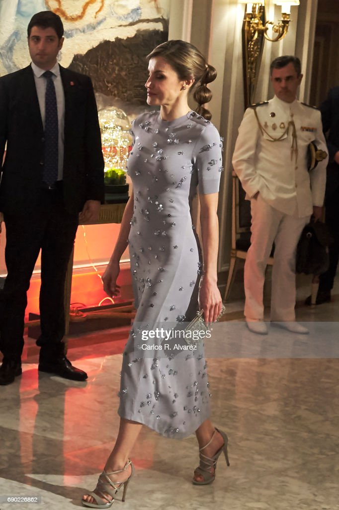 Queen Letizia of Spain attends the Europa Press news agency 60th Anniversary at the Villa Magna hotel on May 30, 2017 in Madrid, Spain.