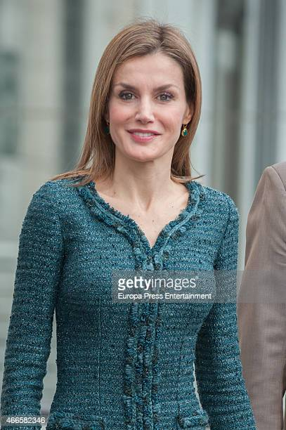 Queen Letizia of Spain attends the exhibition opening of modern and contemporary art from Basel Kunstmuseum collections and Rudolf Staechelin and Im...