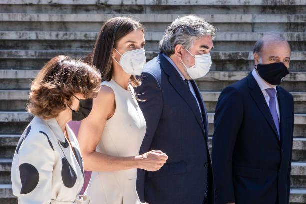 ESP: Queen Letizia Attends An Exhibition Tribute For 'Emilia Pardo Bazan' In Madrid