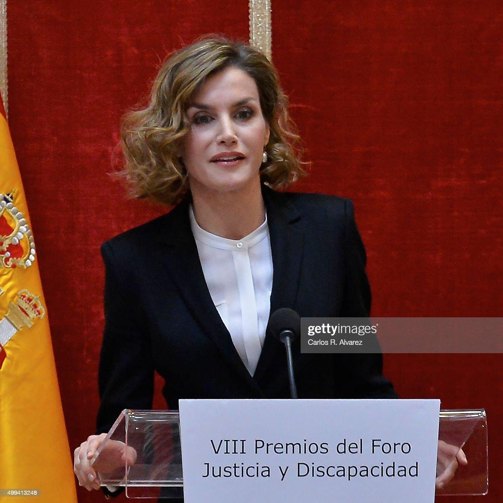 Queen Letizia Attends 'Foro Justicia Y Discapacidad' Awards : News Photo