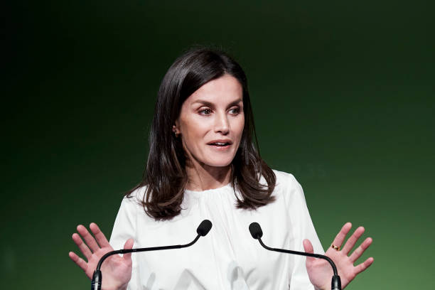 ESP: Queen Letizia Of Spain Attends A Forum Against Cancer In Madrid
