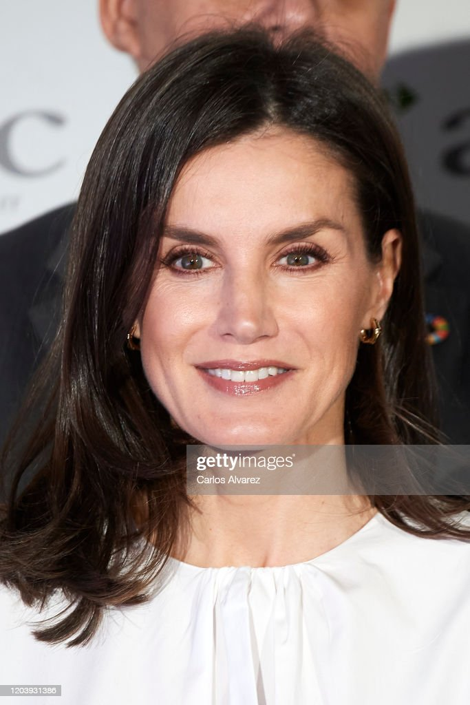 Queen Letizia Of Spain Attends A Forum Against Cancer In Madrid : News Photo