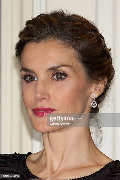 Queen Letizia of Spain attends the 'Francisco Cerecedo' journalism award 2014 ceremony at the Ritz Hotel on November 5 2014 in Madrid Spain