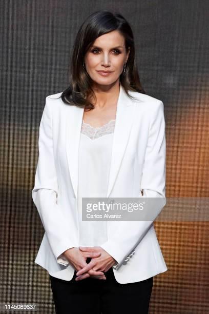 Queen Letizia of Spain attends the 'Gran Angular' and 'El Barco De Vapor' literature awards at Casa de Correos on April 25 2019 in Madrid Spain