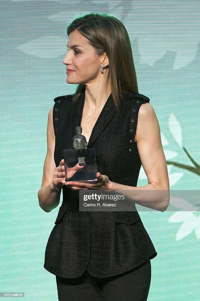 Queen Letizia of Spain Delivers 'Gran Angular' and 'El Barco De Vapor' Literature Awards : News Photo