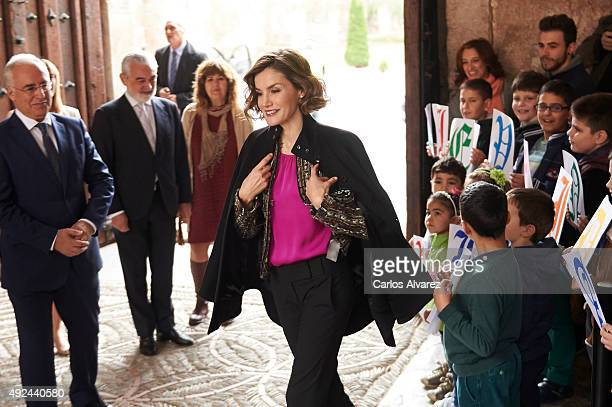Queen Letizia of Spain attends the inauguration of the 10th International Seminar of Language and Journalism Manuales de Estilo en la Era de la Marca...