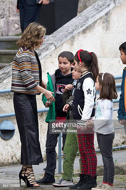 Queen Letizia of Spain attends the inauguration of the 11th International Seminar of Language and Journalism El Lenguaje del Humor en el Periodismo...
