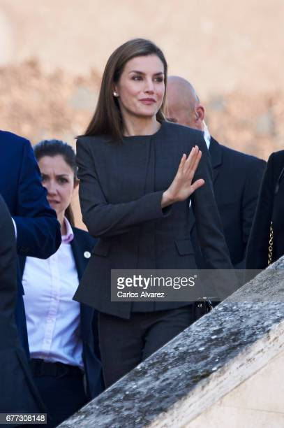 Queen Letizia of Spain attends the inauguration of the 12th International Seminar of Language and Journalism 'Lenguaje Claro Reto de la Sociedad del...