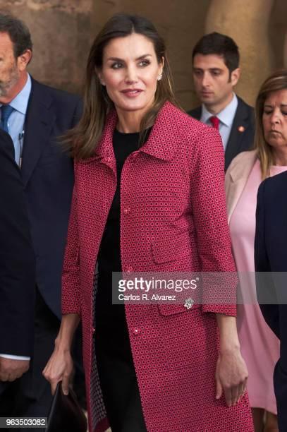 Queen Letizia of Spain attends the inauguration of the 13th International Seminar of Language and Journalism ÔEl Lenguaje en la Era de la PosverdadÕ...