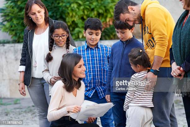 Queen Letizia of Spain attends the inauguration of the 14th International Seminar of Language and Journalism 'El Espanol y las Maquinas Lenguaje...
