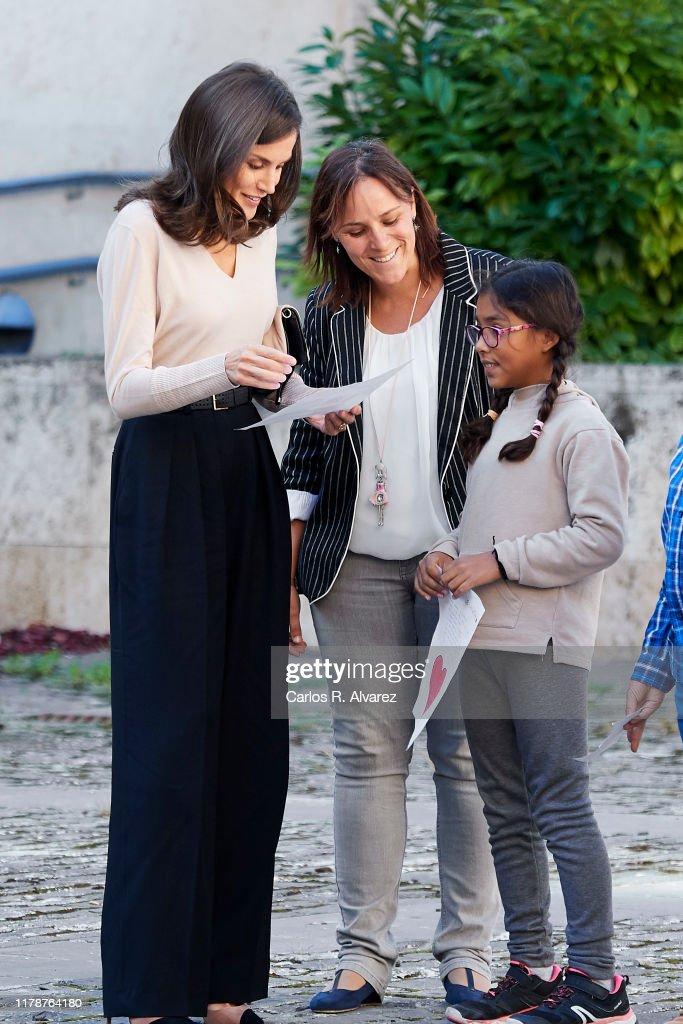 Queen Letizia of Spain Attends Journalism and Language Seminar in La Rioja : News Photo