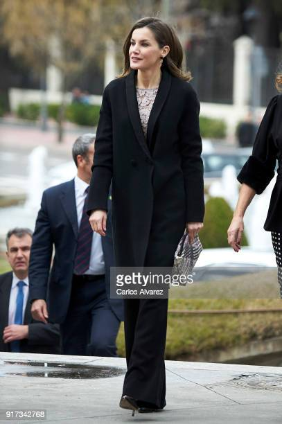 Queen Letizia of Spain attends the 'Innovation and Design' awards 2017 at El Bosque Theater on February 12 2018 in Mostoles Spain
