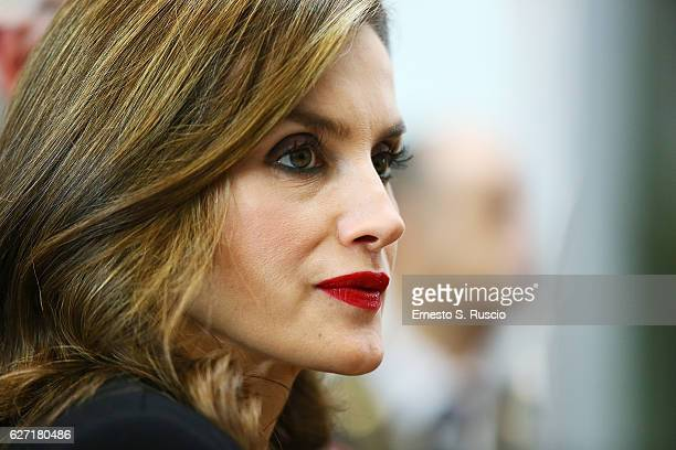 Queen Letizia of Spain attends the International Symposium Sustainable Food Systems In Favor Of Healthy Diets And The Improvements Off Nutrition at...