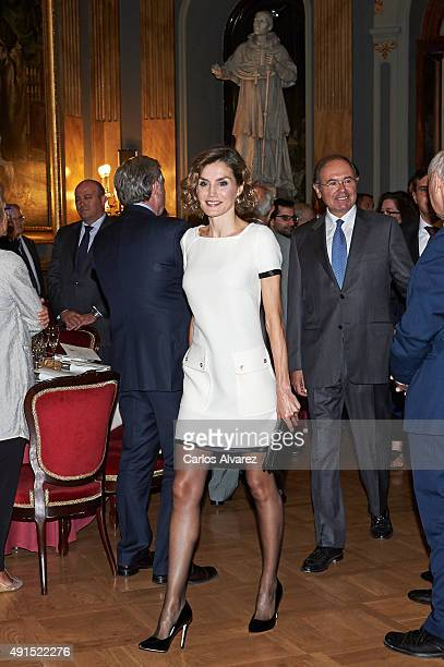 Queen Letizia of Spain attends the 'Luis Carandell' Journalism Award at the Senado Palace on October 6 2015 in Madrid Spain
