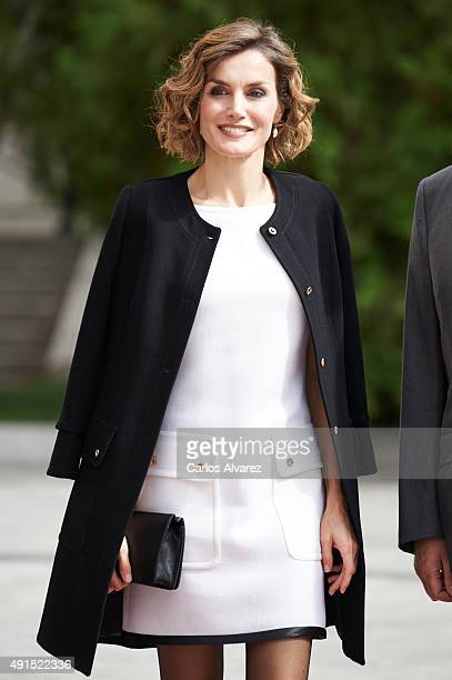 """Queen Letizia of Spain attends the """"Luis Carandell"""" Journalism Award at the Senado Palace on October 6, 2015 in Madrid, Spain."""