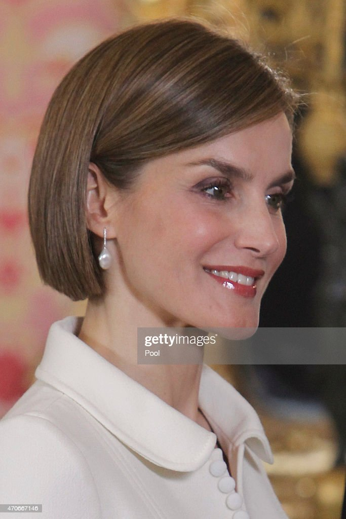 Spanish Royals Meet Literature Personalities in Madrid : News Photo