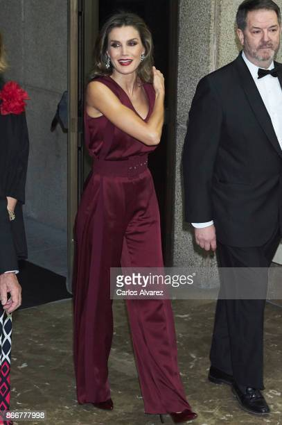 Queen Letizia of Spain attends the 'Mariano de Cavia' 'Luca de Tena' and 'Mingote' Journalism awards on October 26 2017 in Madrid Spain