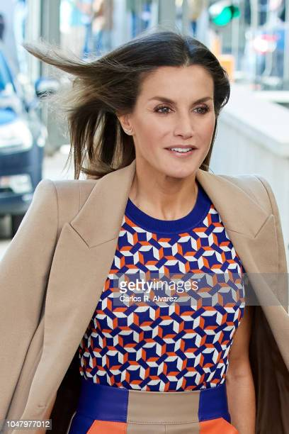 Queen Letizia of Spain attends the Mental Health Day at Spanish Congress on October 9 2018 in Madrid Spain
