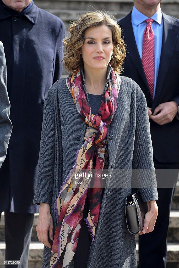 Spanish Royals Attend 'Miguel de Cervantes: de La Vida Al Mito' Opening Exhibition : News Photo
