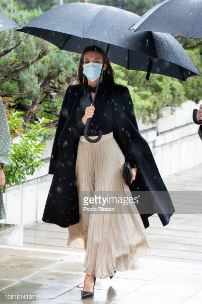 Queen Letizia of Spain attends the Natinal Awards To The Fashion Industry at the Ministry of Industry, Commerce and Tourism headquarters on October...