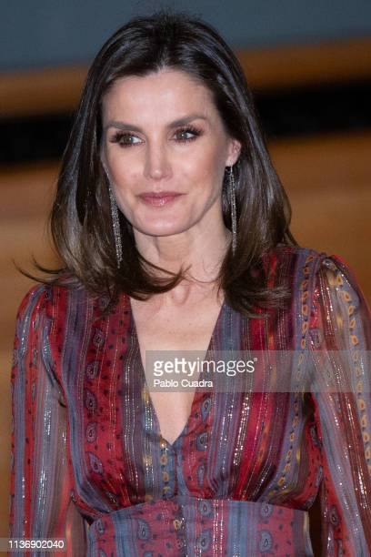 Queen Letizia of Spain attends the National Culture Awards at El Prado Museum on March 19 2019 in Madrid Spain