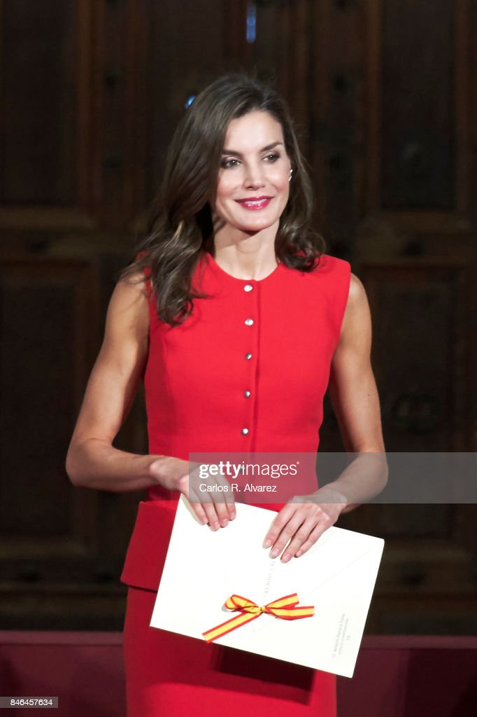 Queen Letizia of Spain attends the 'National Culture' awards at the Santa Maria y San Julian Cathedral on September 13, 2017 in Cuenca, Spain.