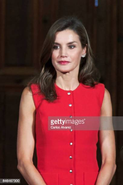 Queen Letizia of Spain attends the 'National Culture' awards at the Santa Maria y San Julian Cathedral on September 13 2017 in Cuenca Spain